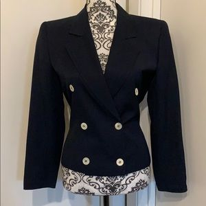 Valentino Dark Blue Professional Blazer Size 6